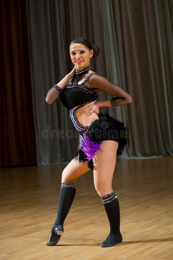 Download Female Dancer Performs Royalty Free Stock Image - Image: 37643556