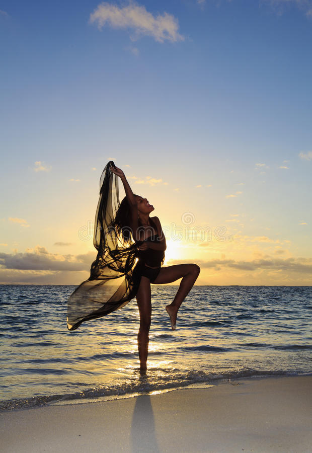 Download Female Dancer Standing In The Ocean Stock Photo - Image: 15247780