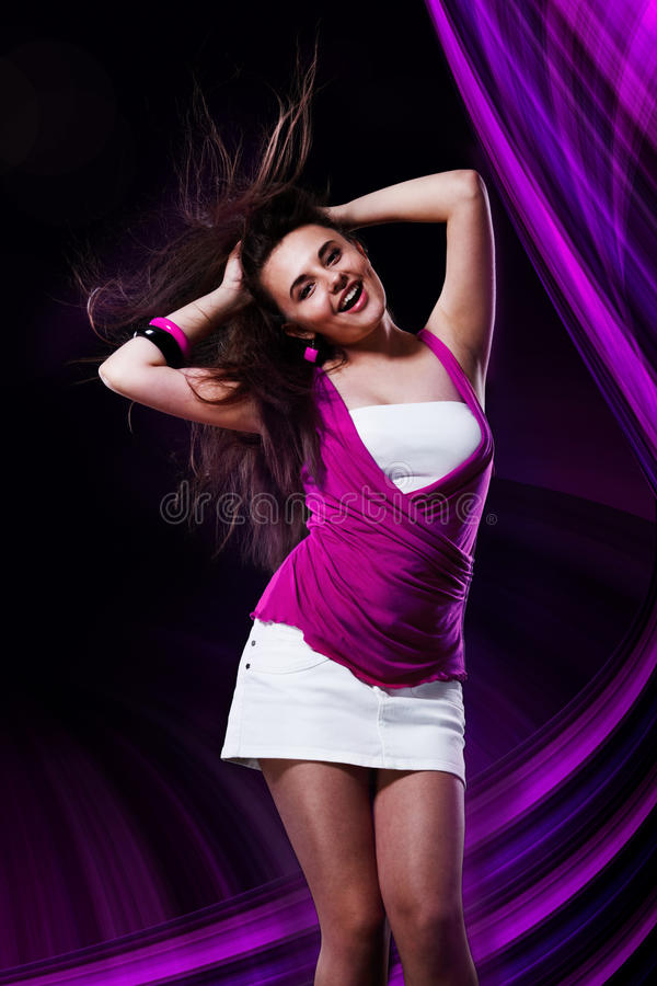Download Female dancing stock photo. Image of club, happy, beauty - 19363674