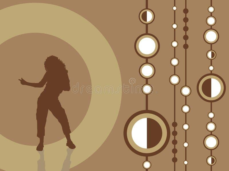 Female dancing stock illustration