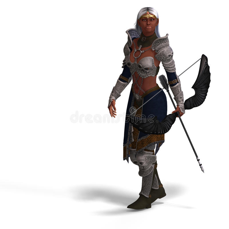 Free Female Dark Elf Archer Royalty Free Stock Photography - 10210037