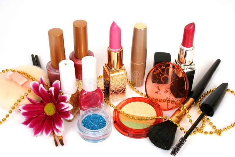 Female decorative cosmetics stock photos