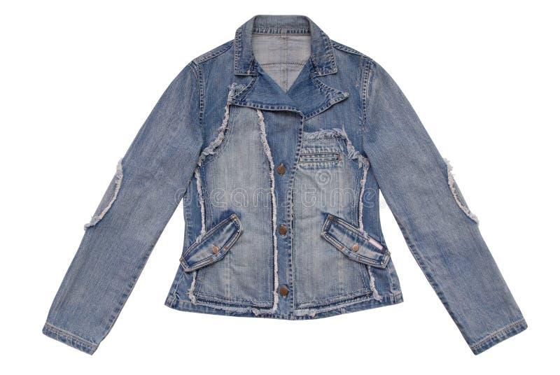 Female denim jacket stock image