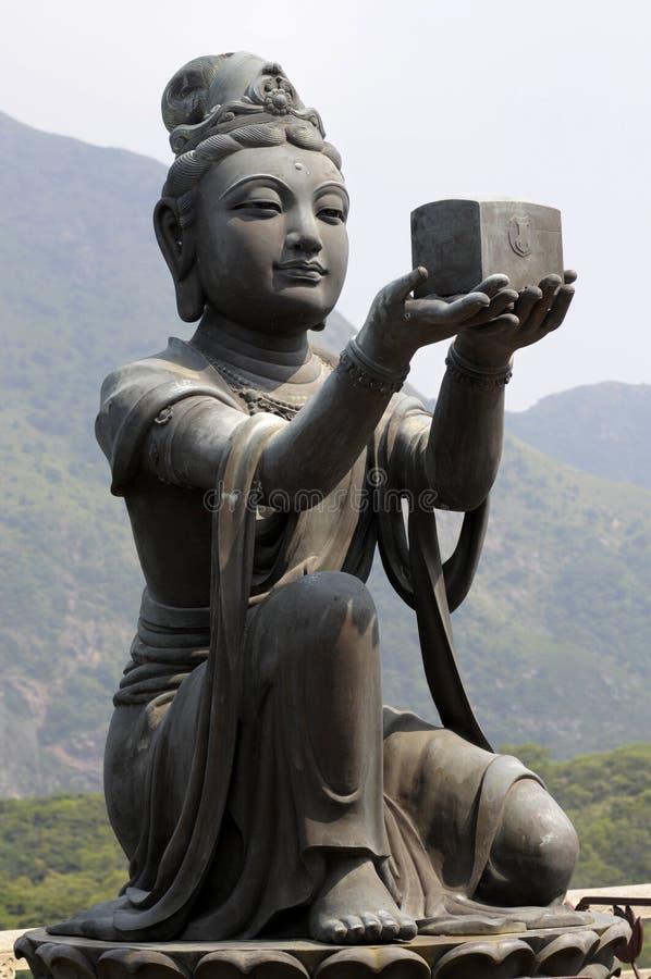 Free Female Disciple Statue At Big Buddha, Hong Kong Royalty Free Stock Photo - 58552265