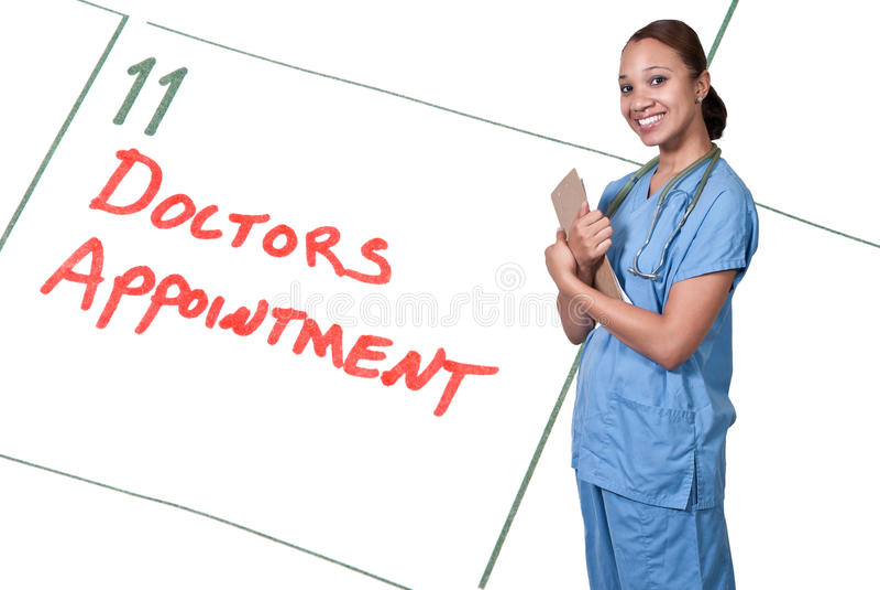 Download Female Doctor stock image. Image of scrubs, medical, healthcare - 26764547