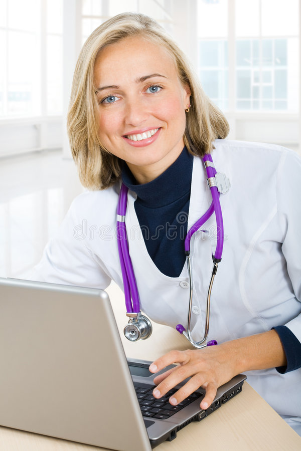 Download A female doctor stock image. Image of cheerful, modern - 7465069