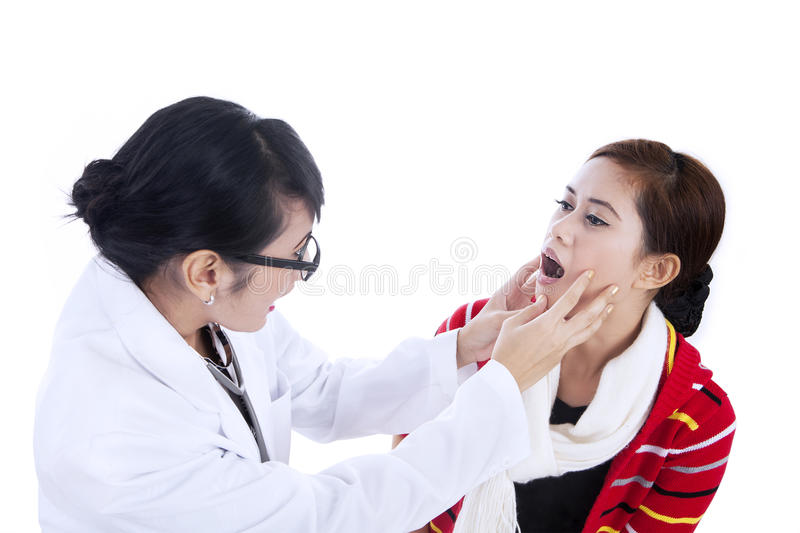 Download Female Doctor Checking Patient Health Stock Photo - Image of background, care: 27060970