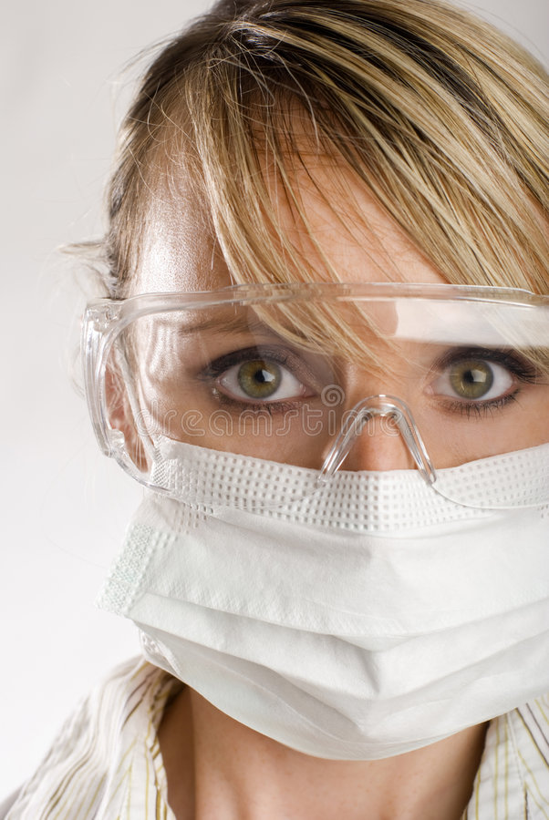Download Female Doctor With Face Mask Stock Image - Image: 4138935