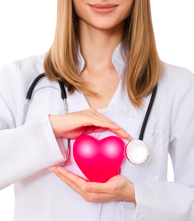 Download Female Doctor Holding  Heart. Stock Photo - Image: 34813350