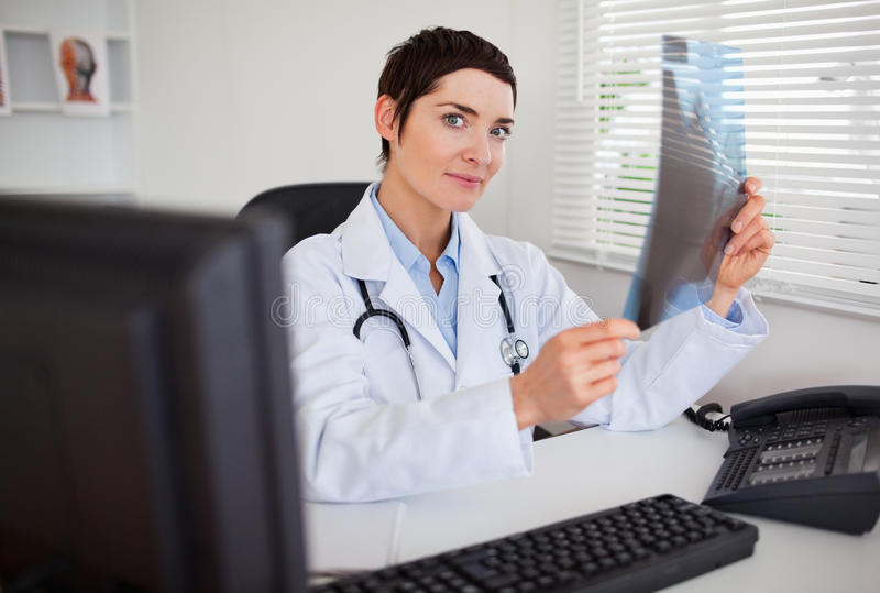 Download Female Doctor Holding A Set Of X-ray Stock Images - Image: 20361604
