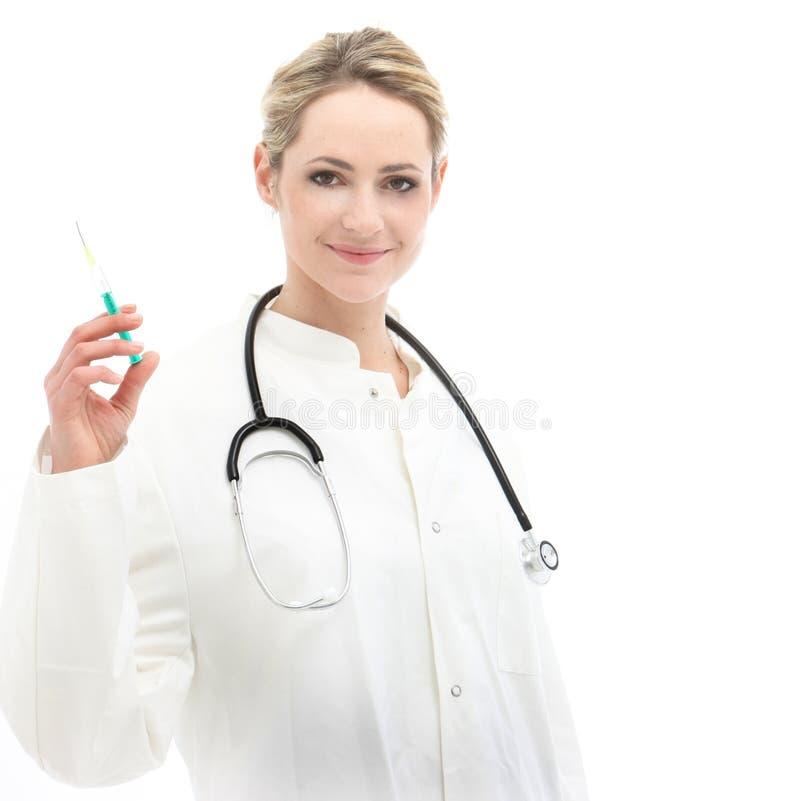 Download Female Doctor Holding Syringe Stock Photo - Image: 24394148