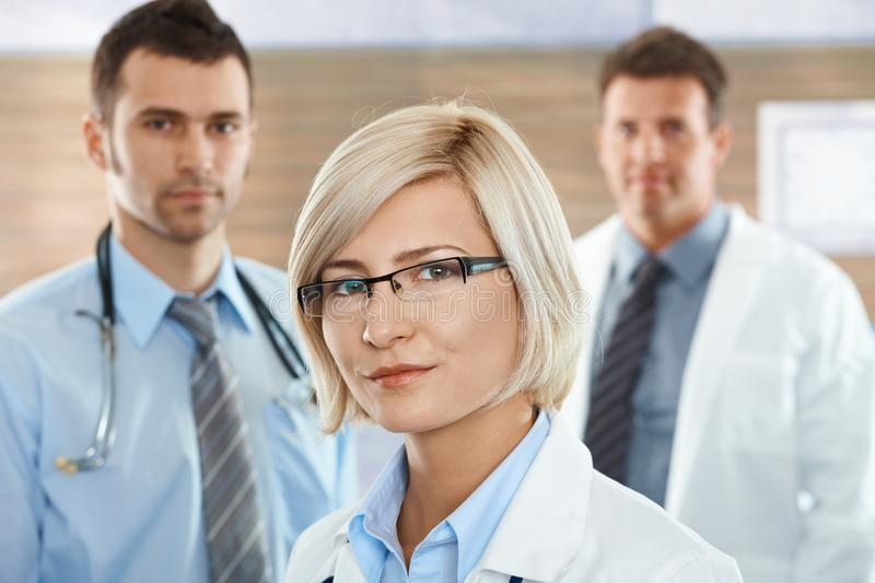 Female Doctor On Hospital Corridor Royalty Free Stock Image