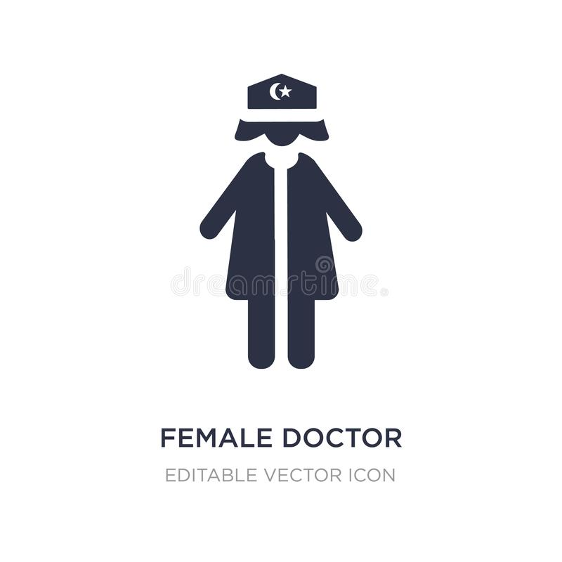 female doctor icon on white background. Simple element illustration from People concept vector illustration