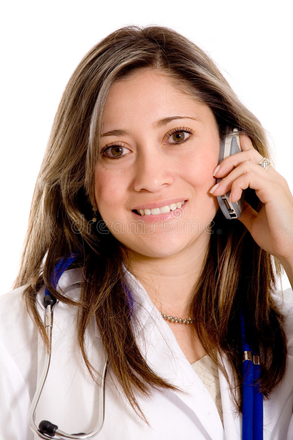 Download Female doctor on the phone stock photo. Image of cellphone - 2303448