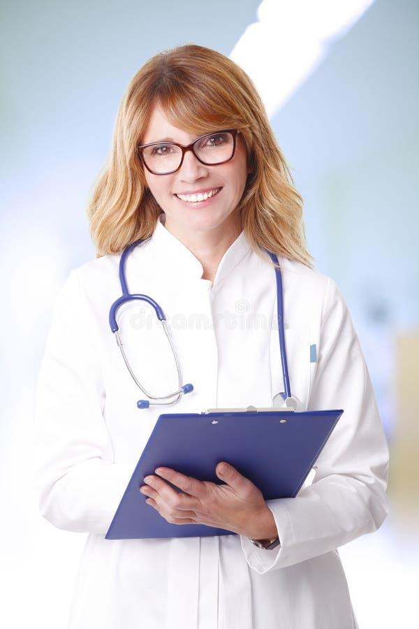 Female doctor portrait royalty free stock photos