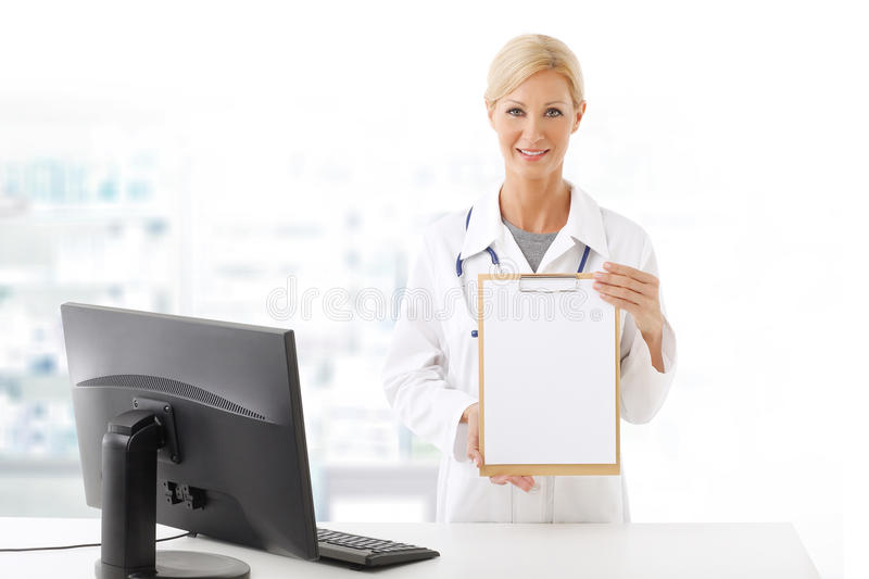 Female doctor portrait royalty free stock photography