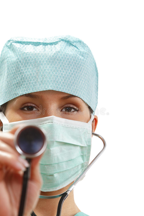 Female Doctor With Stethoscope Royalty Free Stock Photo