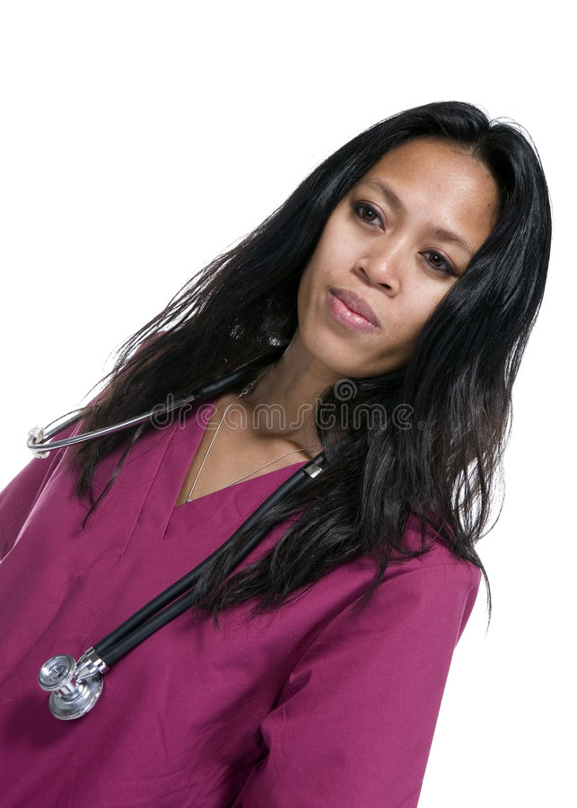 Download Female Doctor With Stethoscope Stock Image - Image: 7023087