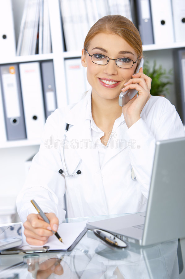 Female doctor in surgery royalty free stock photography