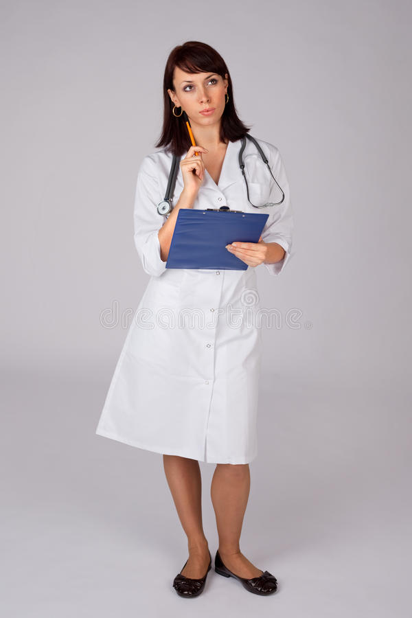 Female Doctor in Thoughtful Pose