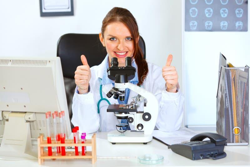 Download Female Doctor Using Microscope In Laboratory Stock Image - Image of medicine, desk: 21608917