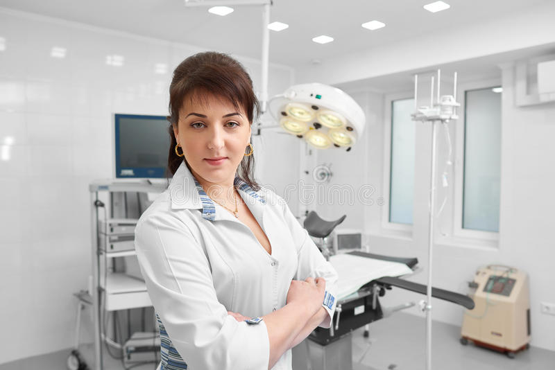 Female doctor working at the hospital royalty free stock images