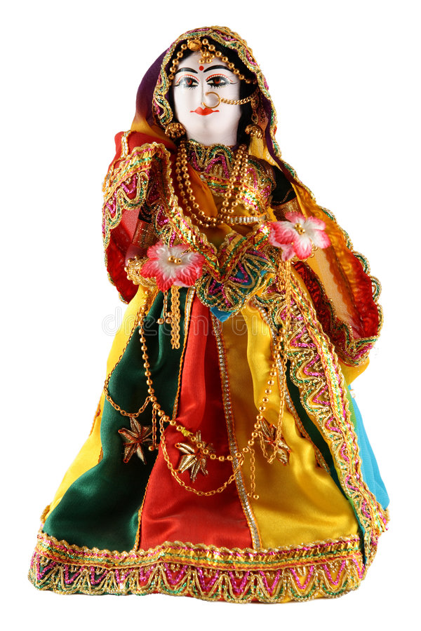 Female doll from India royalty free stock photo