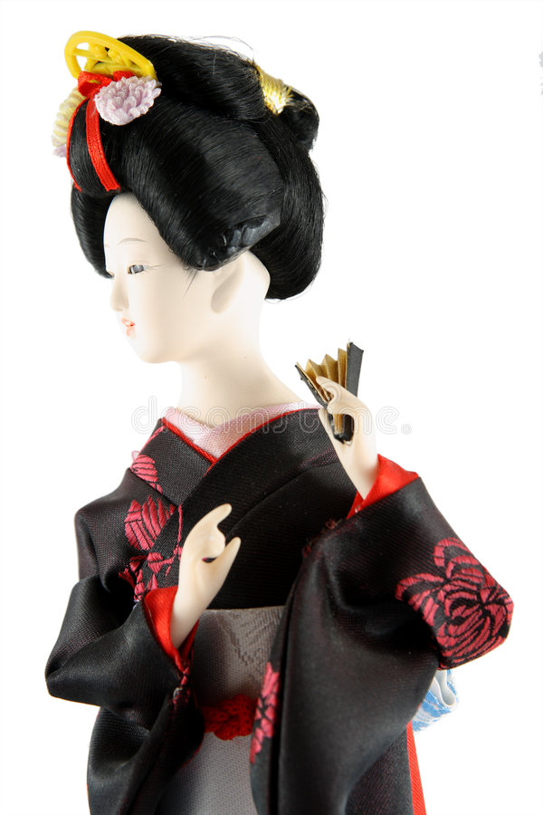 Download Female doll from Japan stock photo. Image of dress, black - 3058916