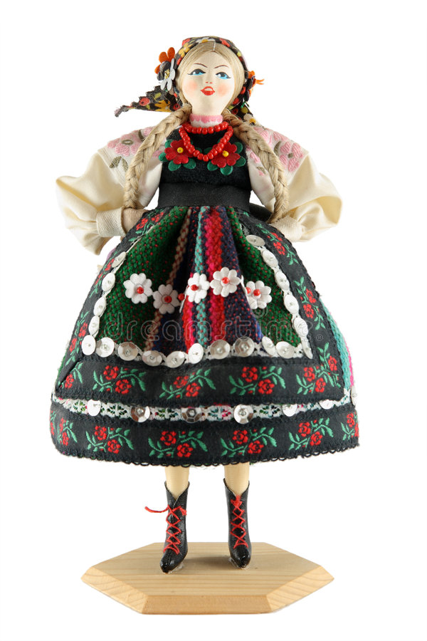 Female doll from Poland stock photography