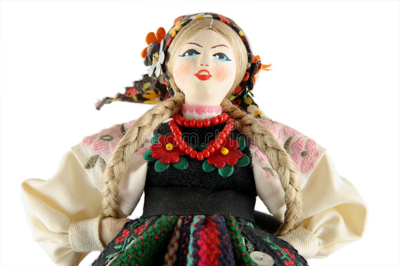 Female doll from Poland royalty free stock image