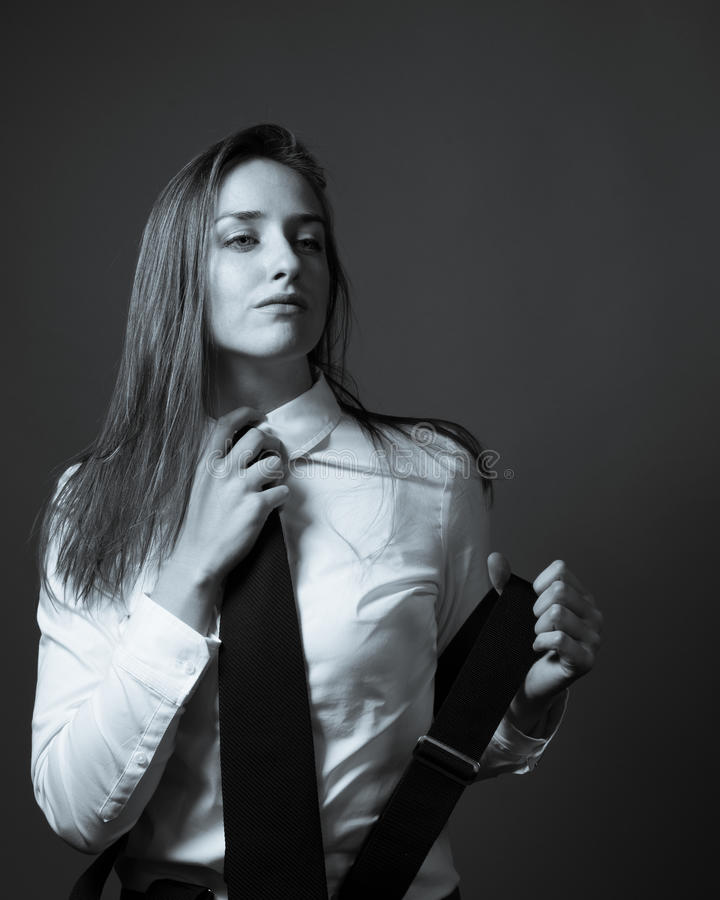 Female Editorial On Masculinity stock image