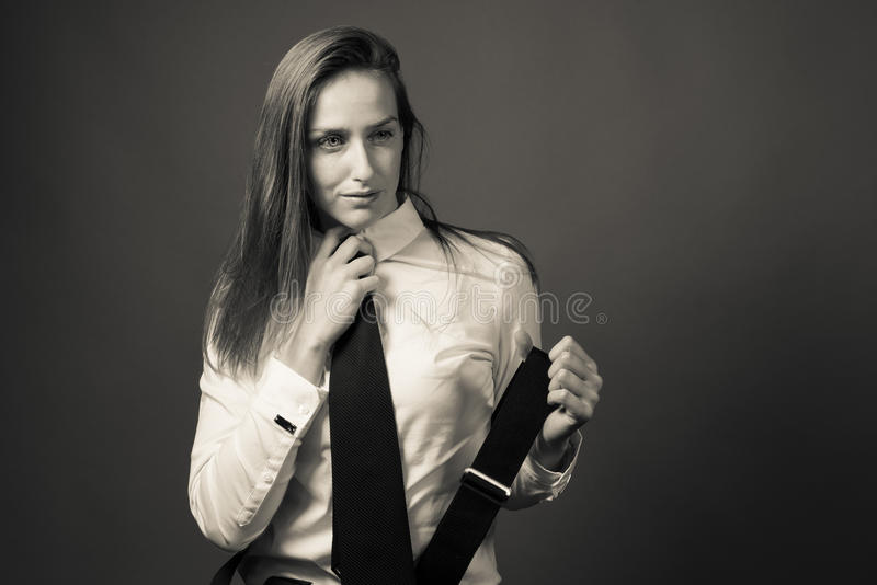 Female Editorial On Masculinity royalty free stock photo
