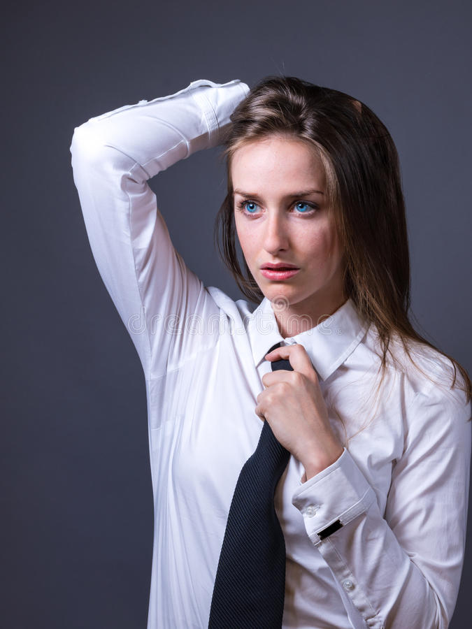 Female Editorial On Masculinity royalty free stock photography