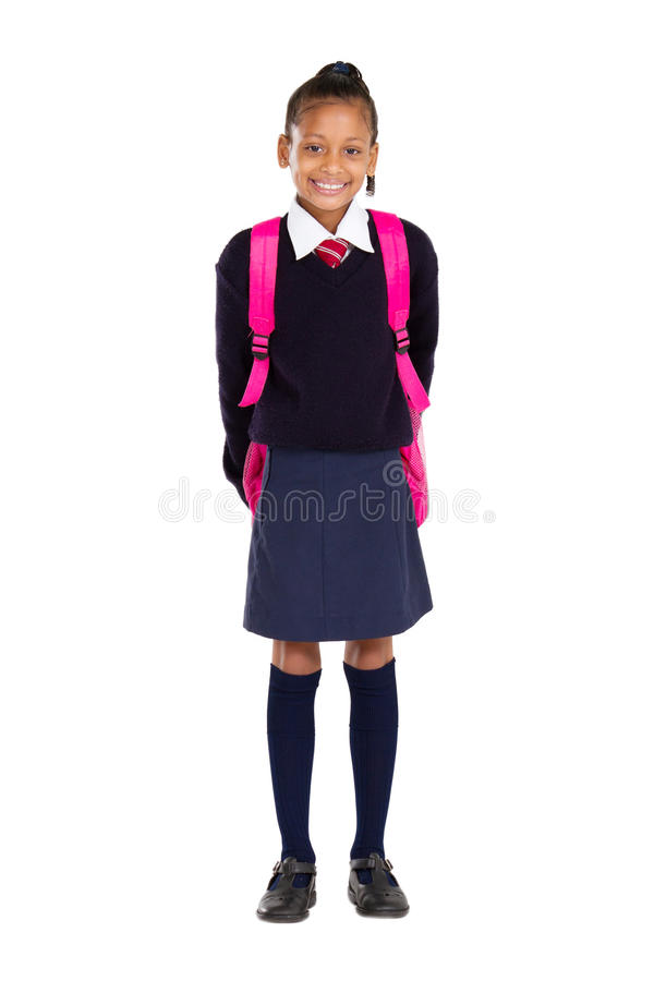 Female elementary pupil royalty free stock photography