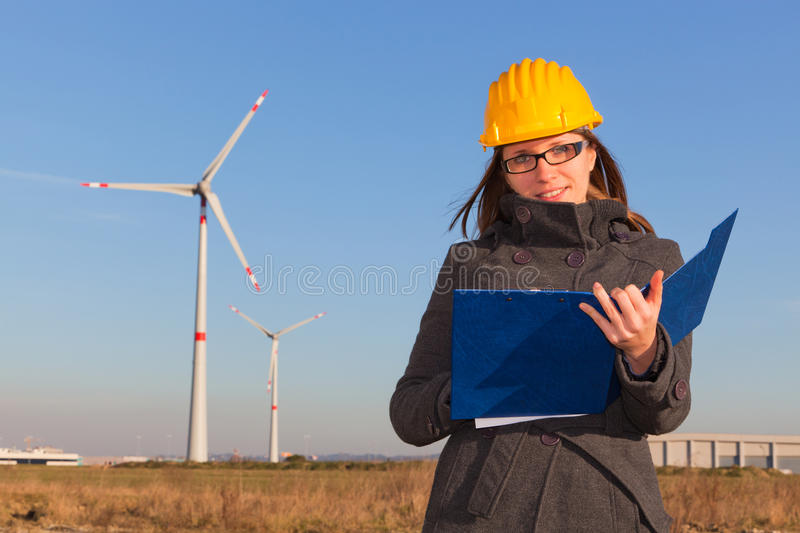 Female Engineer royalty free stock photography