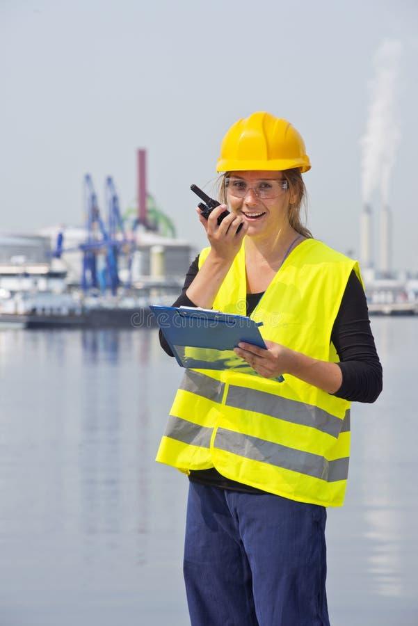 Female Engineer stock image