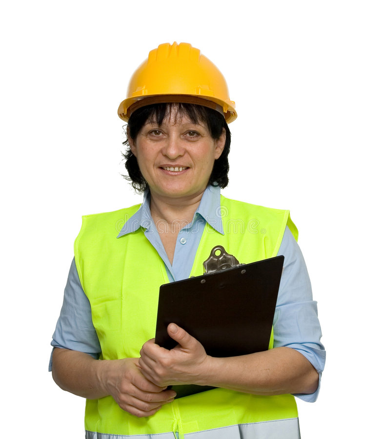 Download Female engineer stock photo. Image of industry, smiling - 4007872