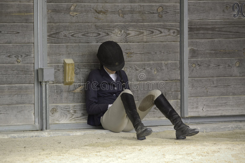 Female Equestrian stock image