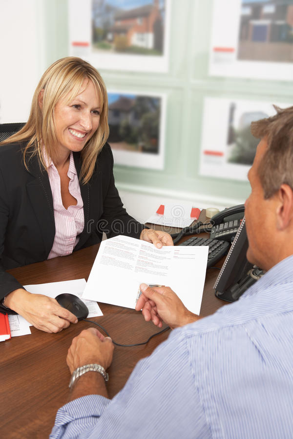 Download Female Estate Discussing Property Details Stock Image - Image of discussing, female: 16052419