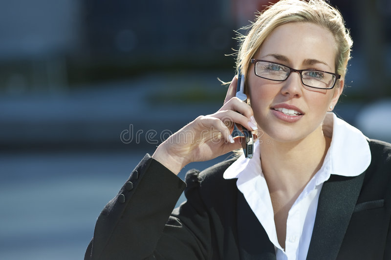 Female Executive Cell Phone Call stock images