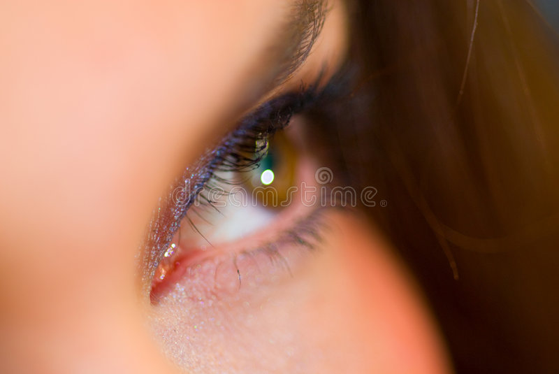 Female eye closeup stock photography
