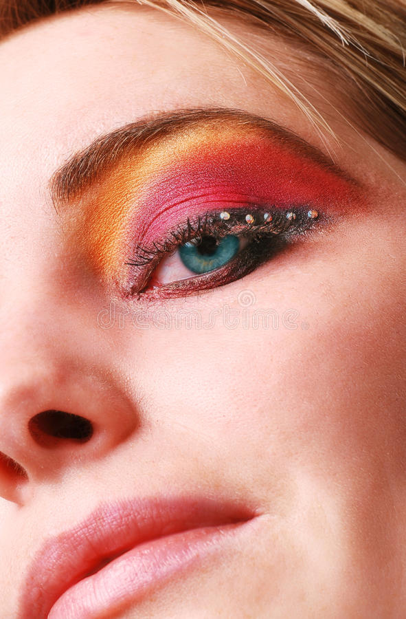 Download Female eye with make up stock image. Image of lashes - 18700359