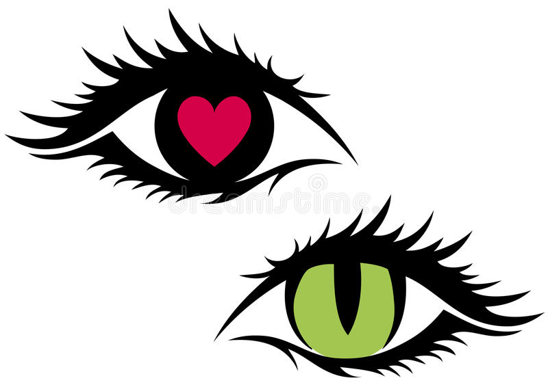 Download Female eyes, stock vector. Image of design, 13th, illustration - 13029182