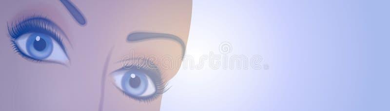 Female Eyes Banner or Logo 2 vector illustration