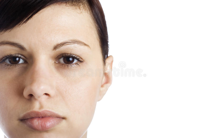 Young women's face royalty free stock image