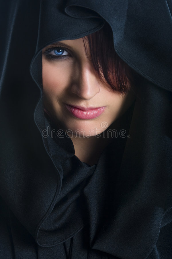 Female Face in cloth royalty free stock photos