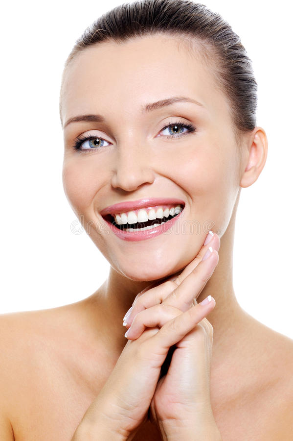 Download Female Face With The Healthy Withe Smile Stock Image - Image: 11515825