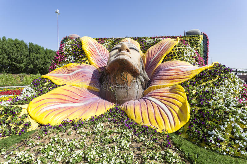 Download Female Face Sculpture At The Miracle Garden In Dubai Editorial  Stock Photo   Image:
