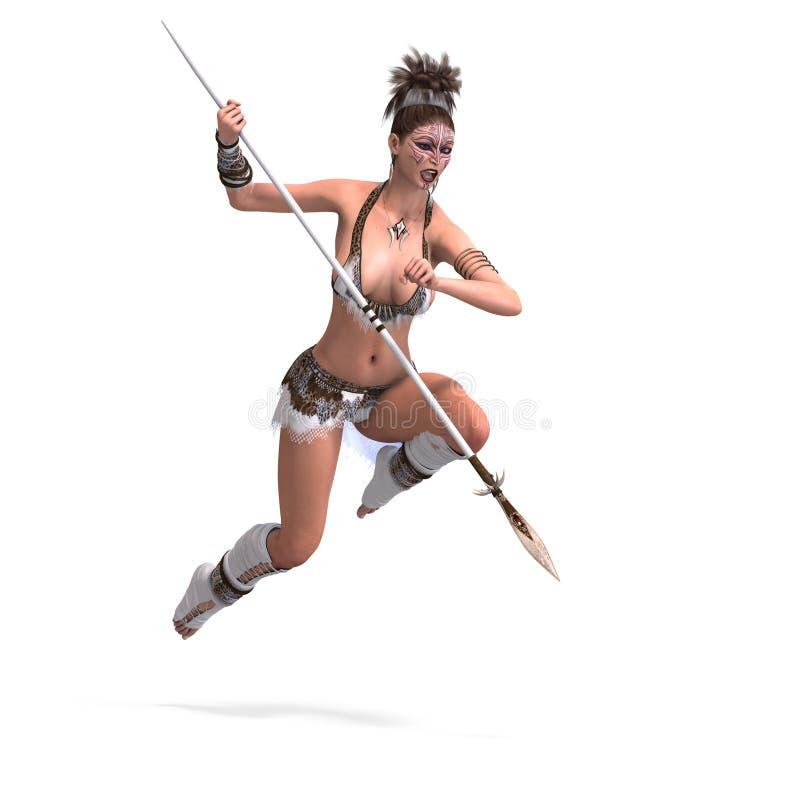 Download Female fantasy barbarian stock illustration. Illustration of contend - 7009691