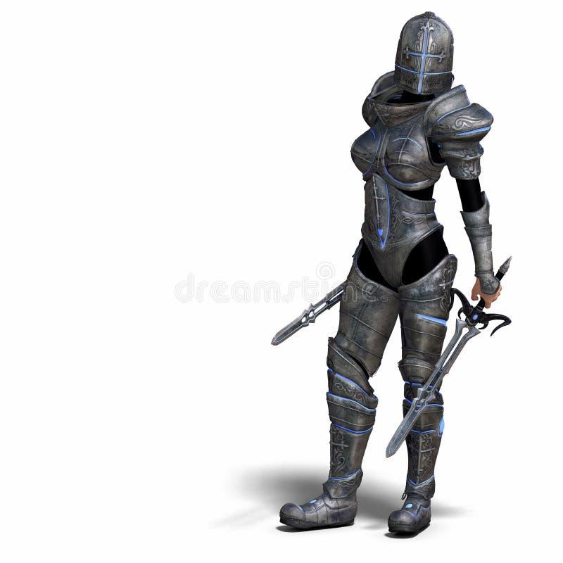 Female Fantasy Knight royalty free illustration